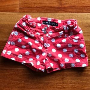 Mini Boden polka dot shorts